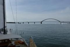 ...eine Bootsfahrt zur Fehmarn-Sund-Brücke...